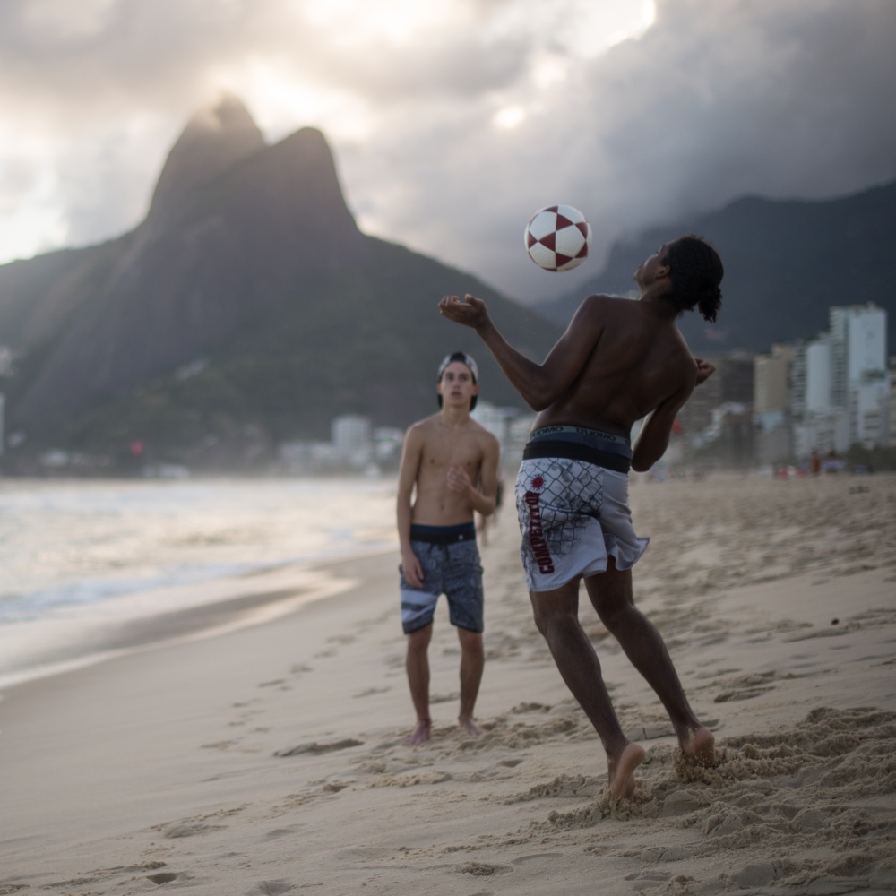 Art and Documentary Photography - Loading Brazil2017IpanemaSunsetSoccerSquare.jpg