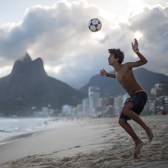 Photography image - Loading Brazil2017IpanemaSunsetSoccerSquare2-1.jpg