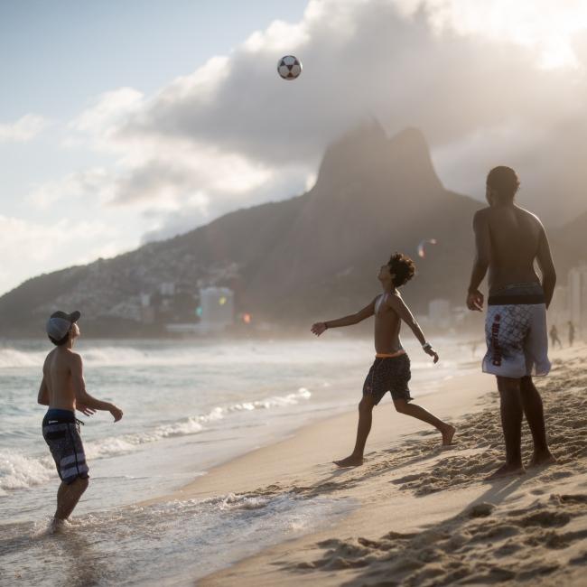Photography image - Loading Brazil2017IpanemaSunsetSoccerSquare2-3.jpg