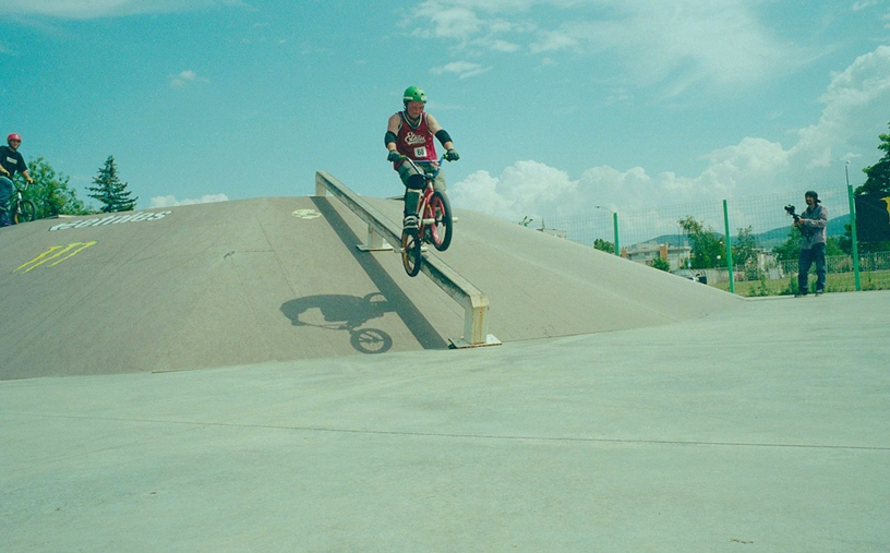BMX day - icepick grind trick
