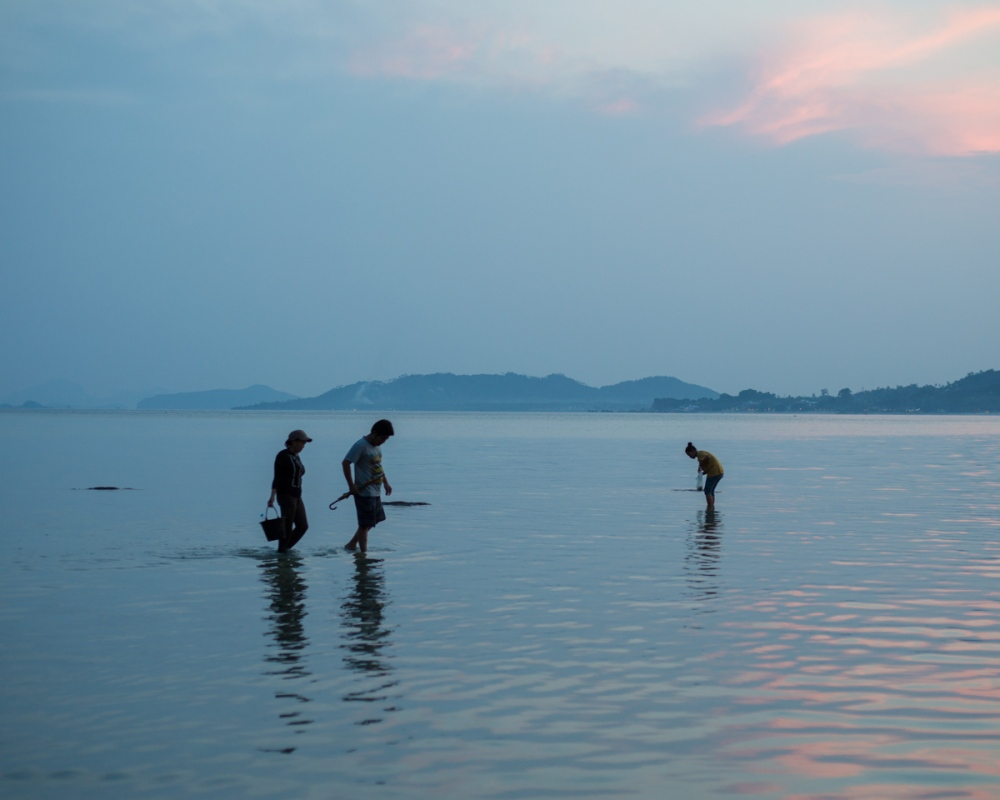 Photography image - recently returned from a surprise trip to Thailand, to thaw out before going back to the Arctic. The best part was watching locals searching the shallow waters for sea creatures at all hours of the day and night.