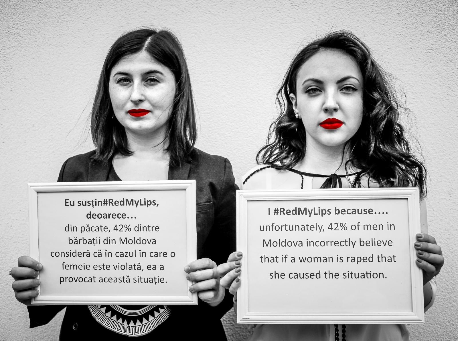 Eu susțin#RedMyLips, deoarece… din păcate,...
