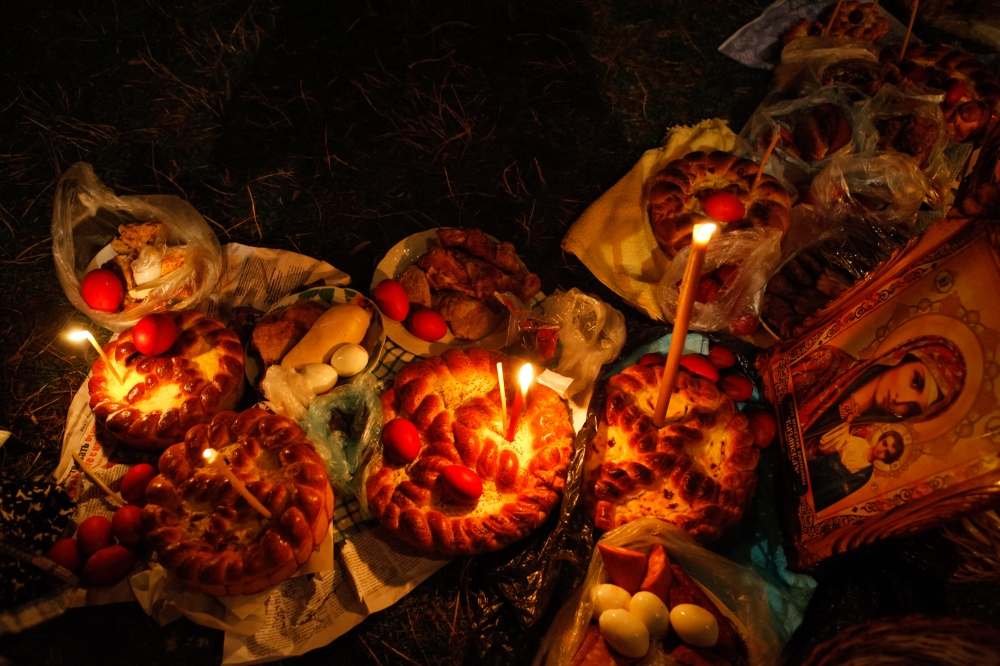 Photography image - Easter Feast on the grounds of a local church in Moldova