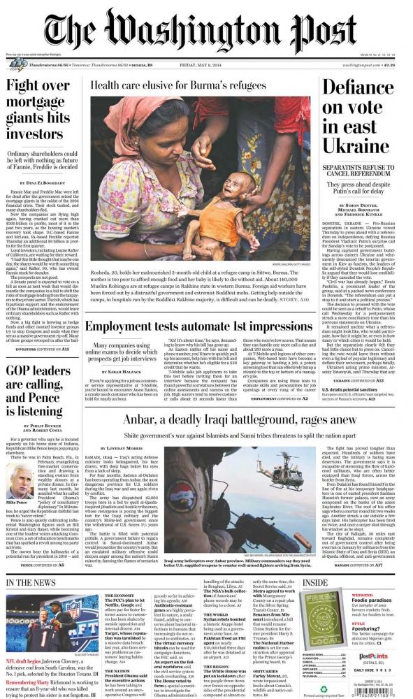 The Washington Post, May 2014.
