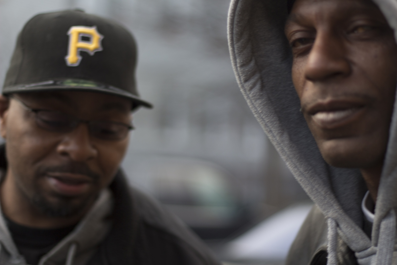 two black men in washington dc standing outside