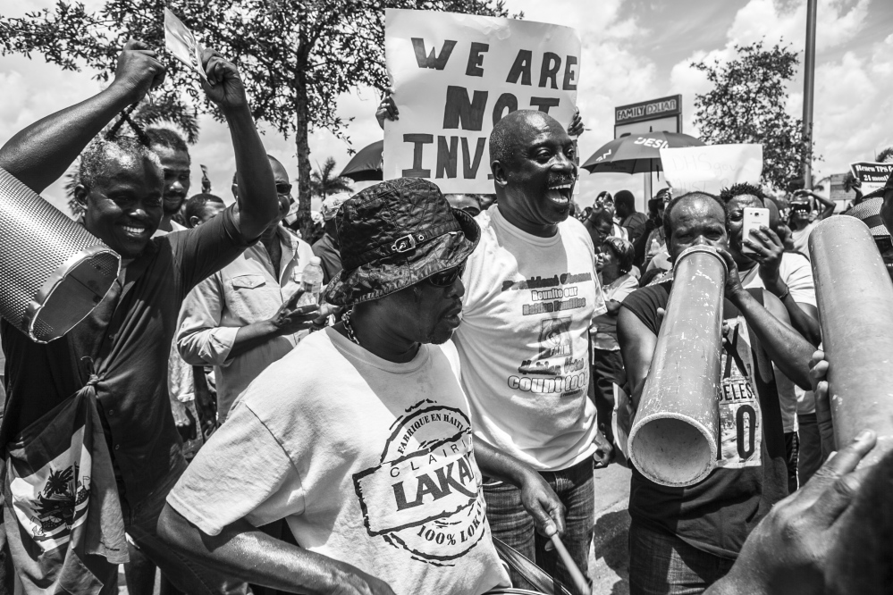 Photography image - Loading Haitian_TPS_Protest_B_W_6.jpg