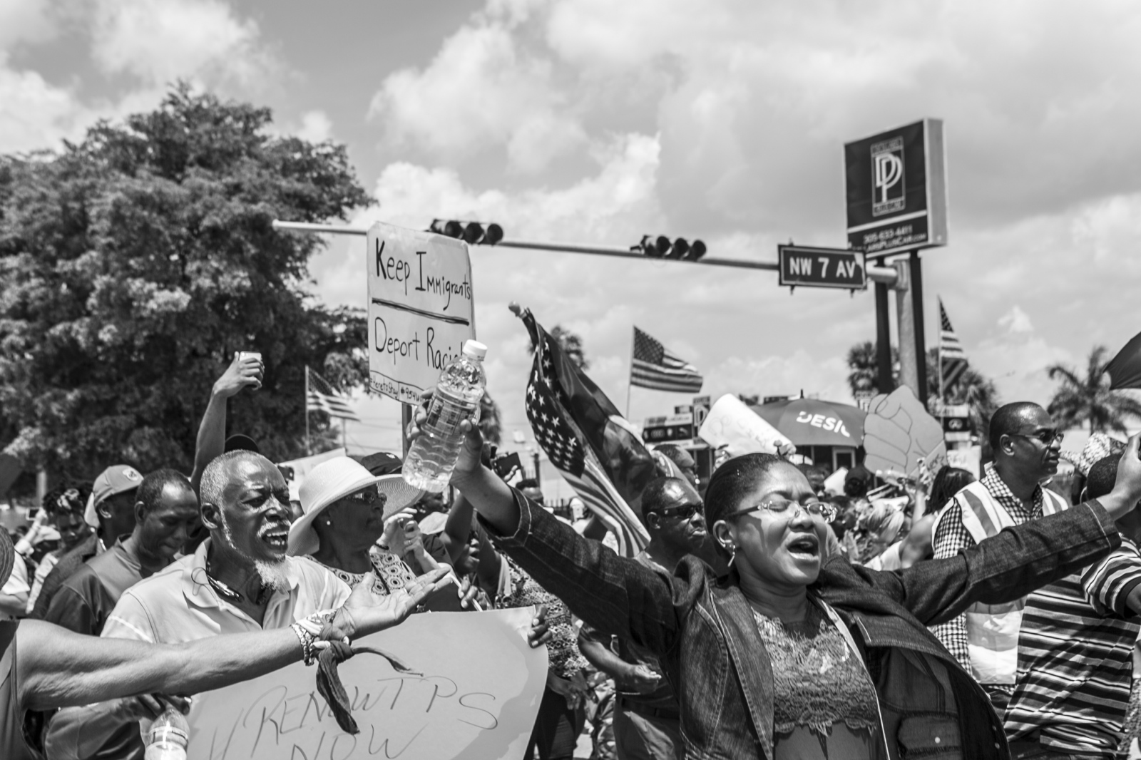 Art and Documentary Photography - Loading Haitian_TPS_Protest_B_W_15.jpg