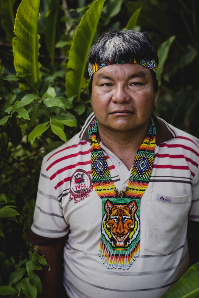 Taita Leonel of the indigenous Embera people. A traditional 'curandero' and medicine man who works with the spirits of the tobacco plant and mushrooms.