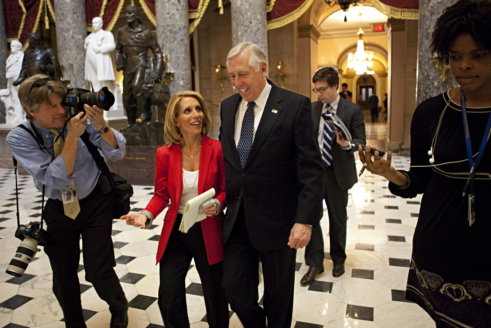 RepresentativeSteny Hoyer takes questions from Dana Bash in the Hall of Statues.