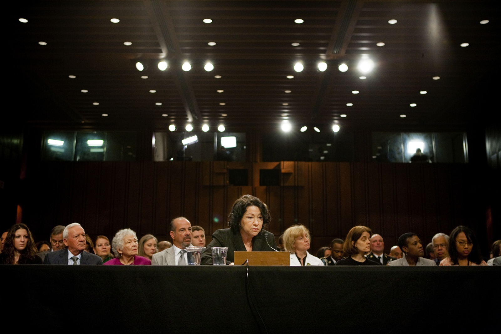JudgeSonia Sotomayor at her hearing to be a Supreme Court justice.