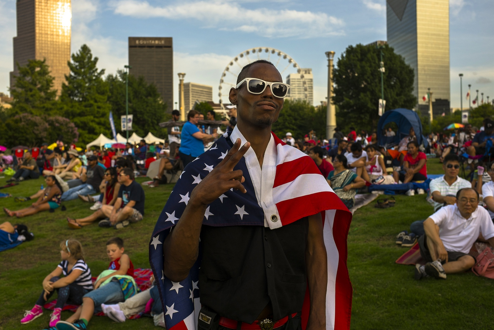 4th of July, Centennial Olympic Park, Atlanta.