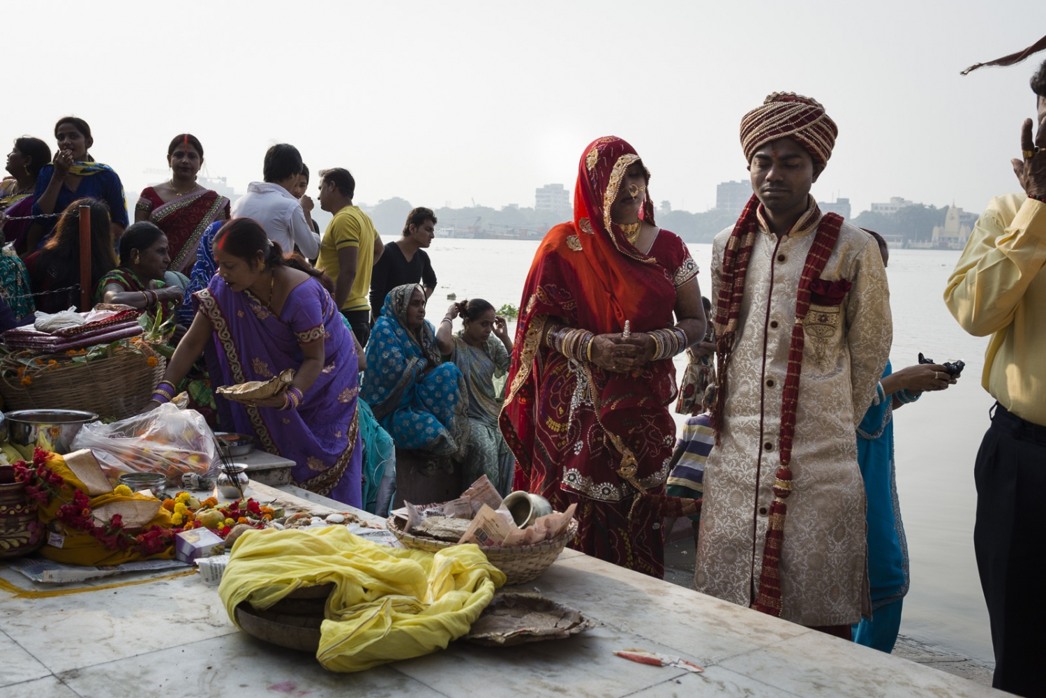 Marriage at the river Hooghly. Calcutta, India...