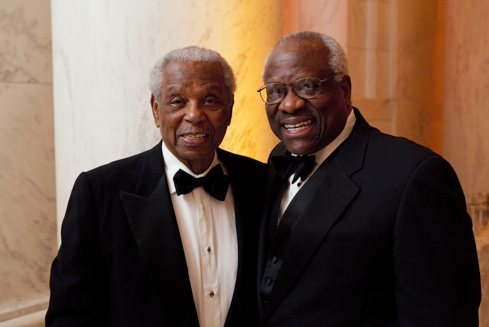 Supreme Court Justice Clarence Thomas and his friend and mentor, Judge Miller.