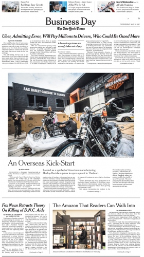 Client: New York Times U.S version  Published: May 2017