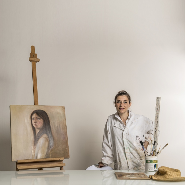 The painter Valeria Saieva