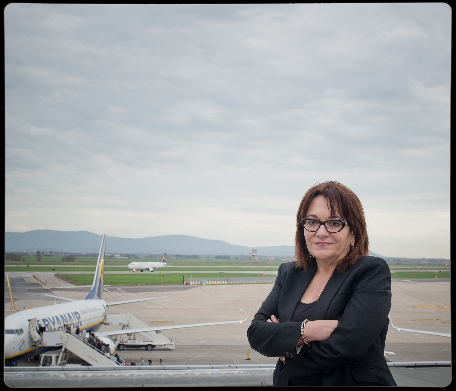 The CEO of the Pisa Airport Gina Giani