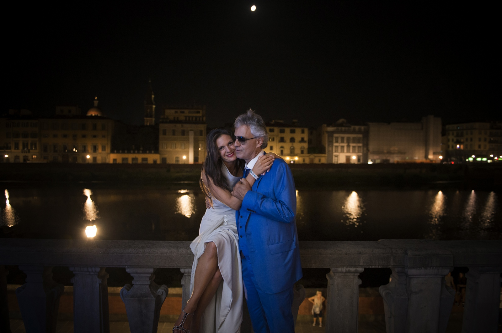 The tenor Andrea Bocelli with his wife Veronica, in Florence.
