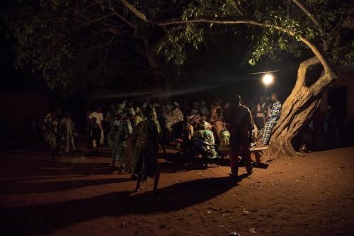 The most sacred part of the Guelede dances occurs at nigth. Ofia, Benin, 2017. ©Laeïla Adjovi