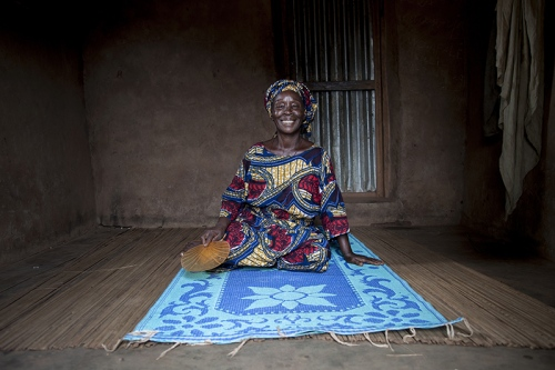 Therese Ibitokou is in charge of communication for all the matters concerning women in Ofia. She is convinced that, for the past 20 years, the larger role of women in Guelede rites has helped the practice develop.Ofia, Benin, 2017. ©Laeïla Adjovi
