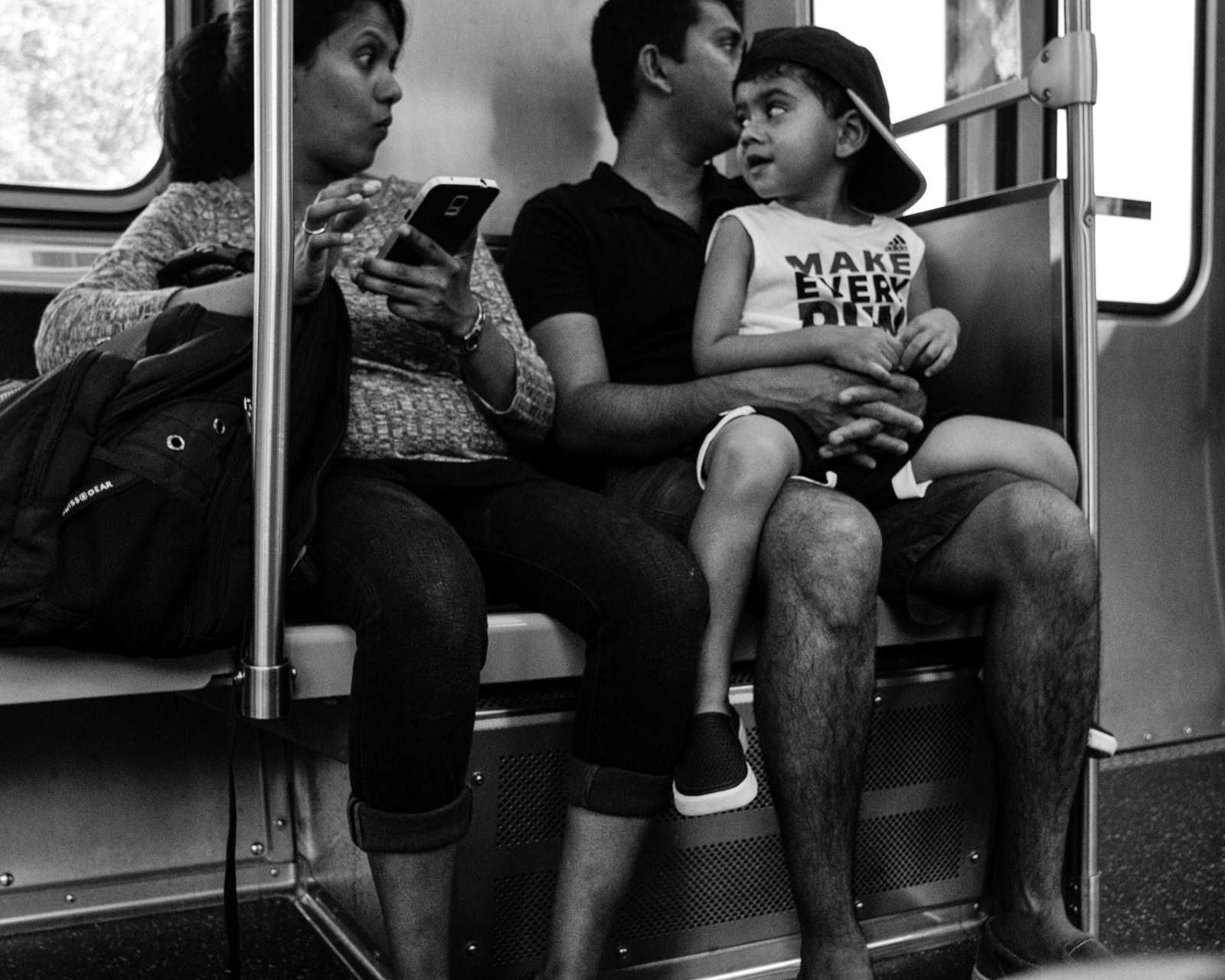 Family on the Red Line, Chicago 2017
