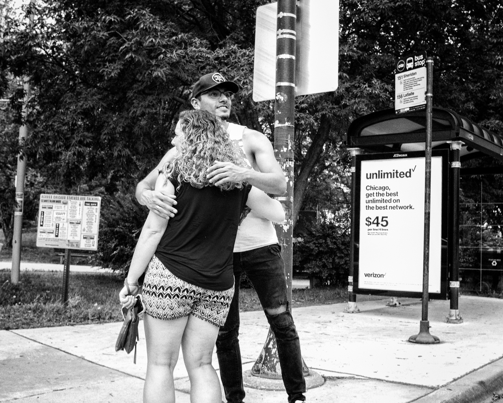 Couple at Stockton and Fullerton, Chicago 2017