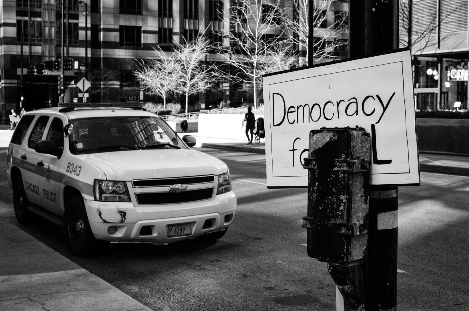 Democracy for All, Adams and Riverside Plaza, Chicago 2016