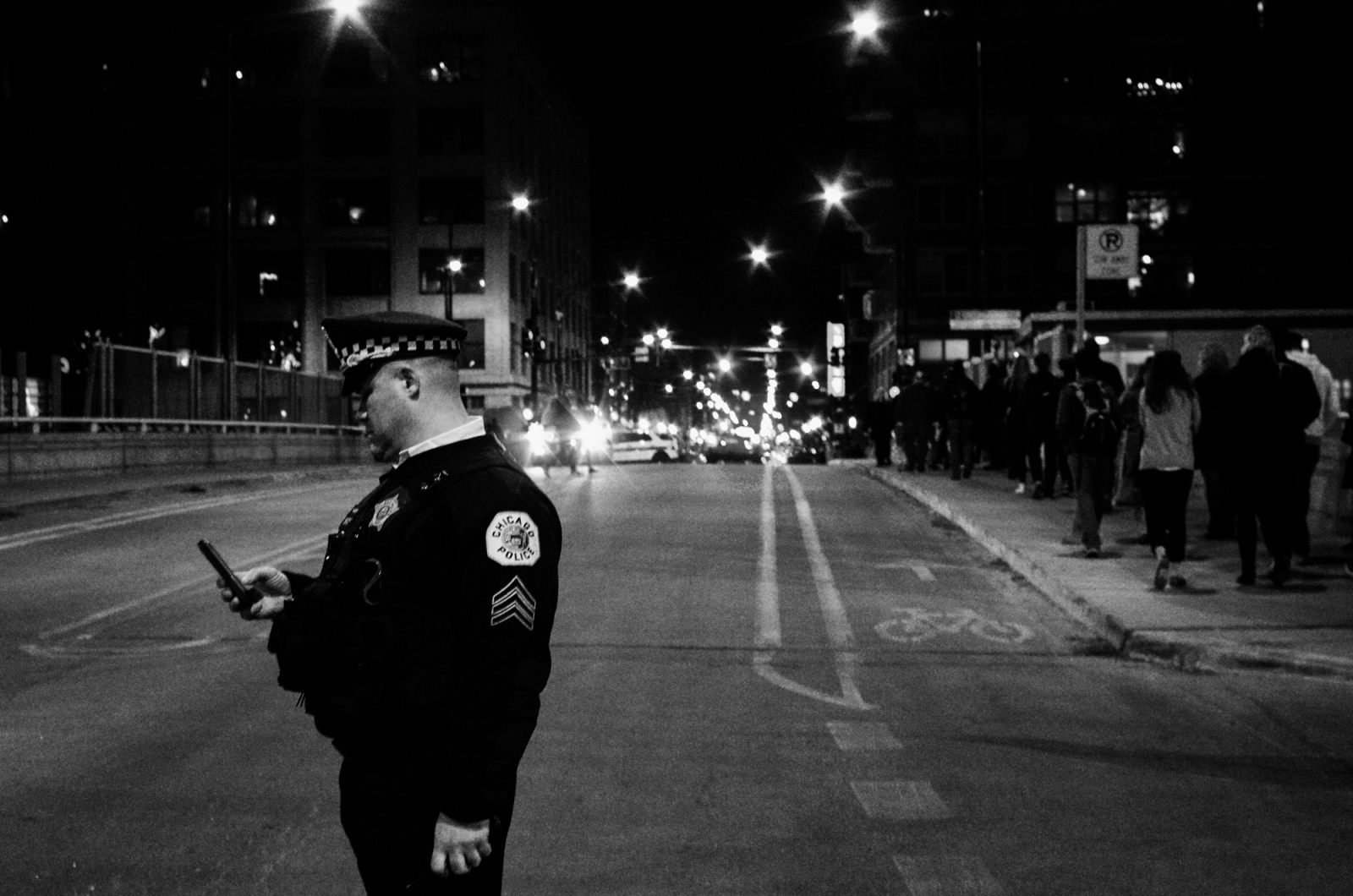End of Donald Trump Rally and Protest, Chicago 2016