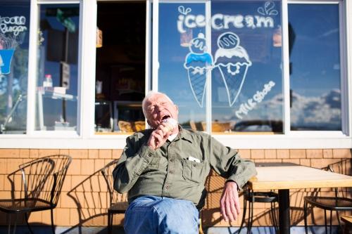 Paul, Ice Cream on Alki, Seattle