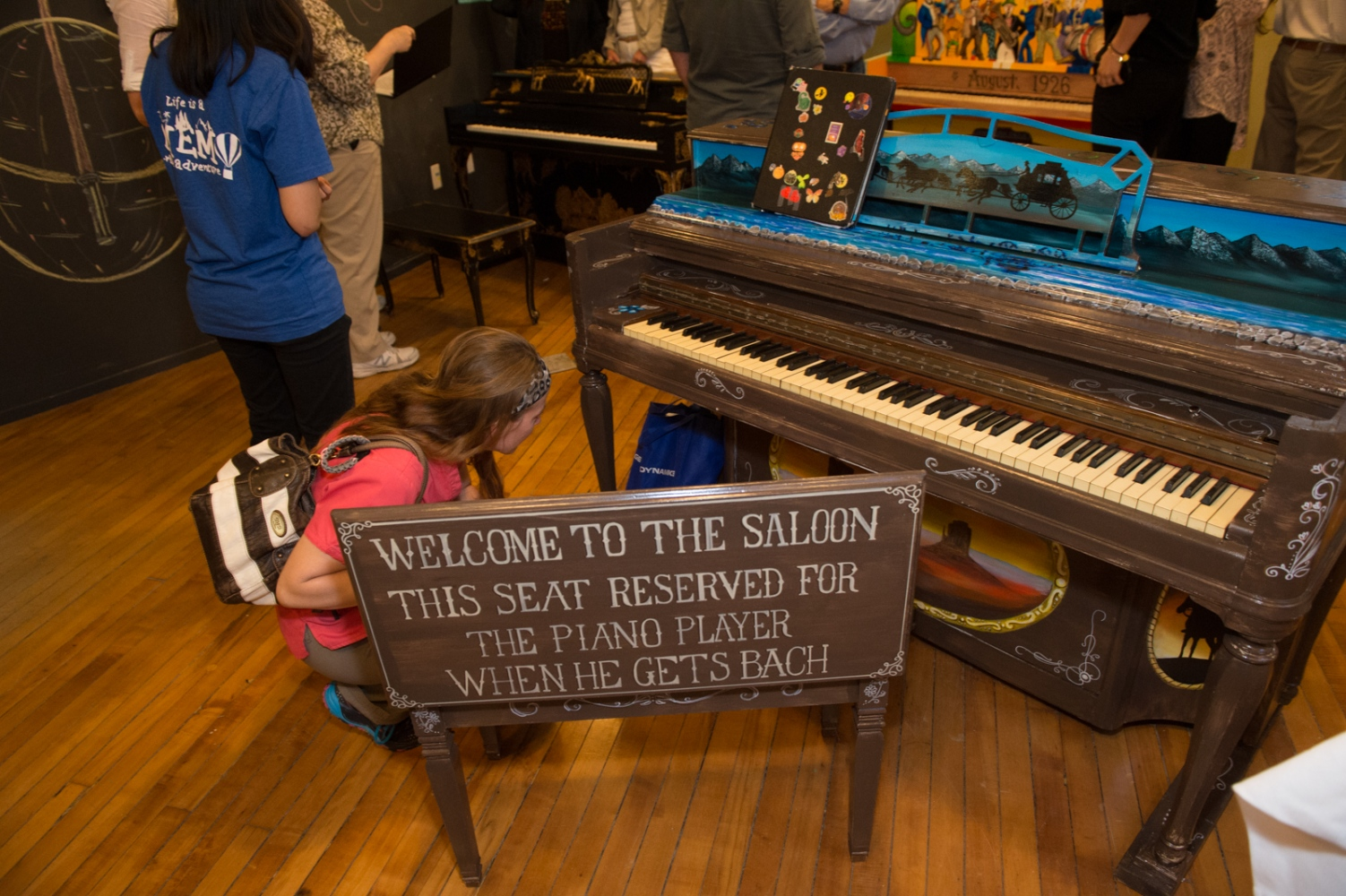 The pianos are shown at a pre-launch celebration where anyone involved in the project shares a glass of wine and swaps stories of the process.