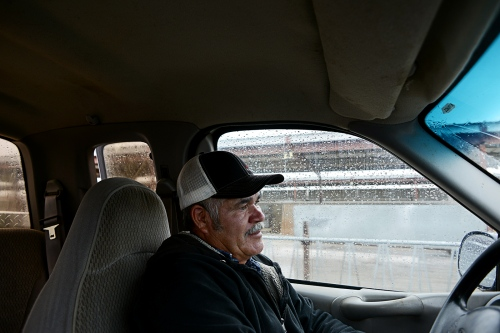 "Juan Fregoso, 59, drives through the dairy farm he has worked on since the 1990s. ""When I first moved to Jerome [Idaho],"" Mr. Fregoso says, ""it was a small town. They would look at me like I was a wild animal on the street. But I've lived a third of my life here. I love it. Humor has been essential. I've never missed a day to sickness. I hope they appreciate that when I go. Because it's not just a job.""   ""Without each other? What are we?"" he says, holding out his hands. ""We need each other."