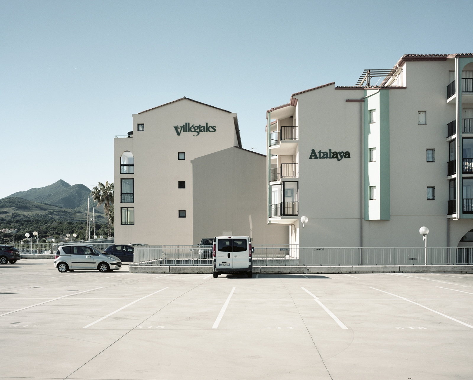 France, Argeles-Sur-Mar. New building just on the seaside.