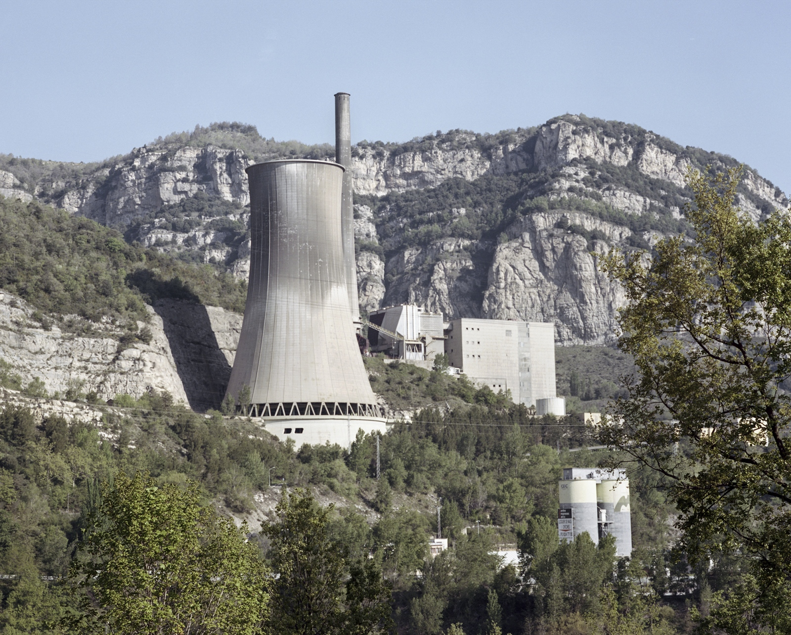 Spain, Cercs. The former Thermal Plant that was working with coal. The plant coused acid raining in the past, and in 2011 it definetely closed. The plant was supposed to be converted in a biomass plant or in a research center for renovable energy but the plans have never been developed.
