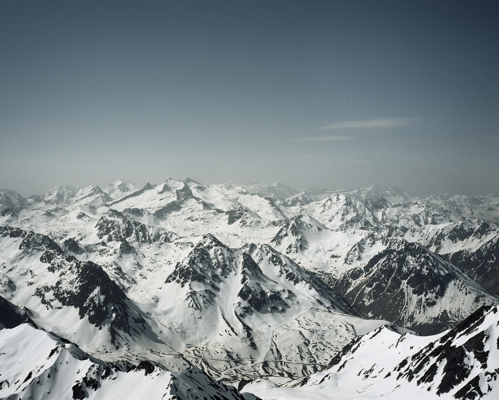 France, Pic du Midi. A view of the Pyrenees.