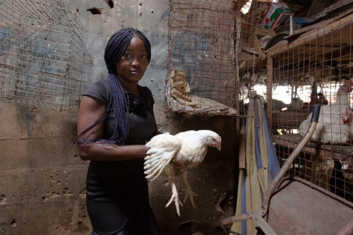 Emmanuela Clinton, a poultry farmer who owns her own farm in Ukwashi Ukwu. Owerri, Nigeria, 2015.