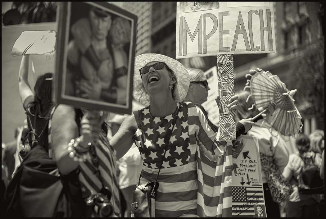 Impeach Protest.Los Angeles,California. July 2017.