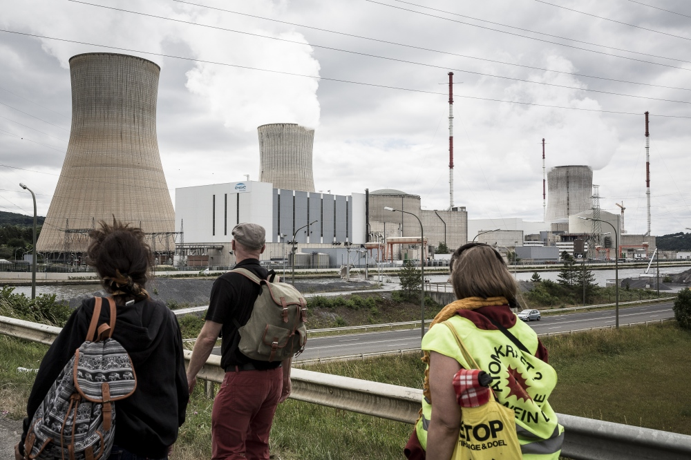 Photography image - On 25 June 2017, near the Tihange nuclear power plant close to Liège, the human chain linking Tihange to Aachen in Germany was launched to protest against the use of the Tihange nuclear power plant in Belgium. © Valentin Bianchi