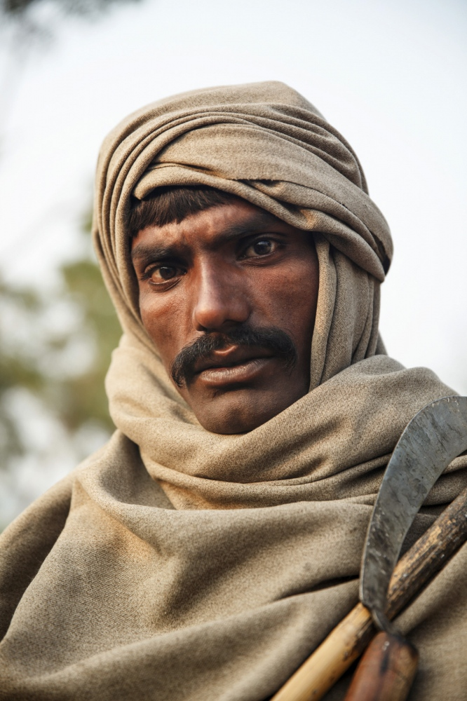 A portrait of Mirchand Bheel, age 36, enslaved for 2 years for apparently owing US$1500.   Sindh Province - Pakistan