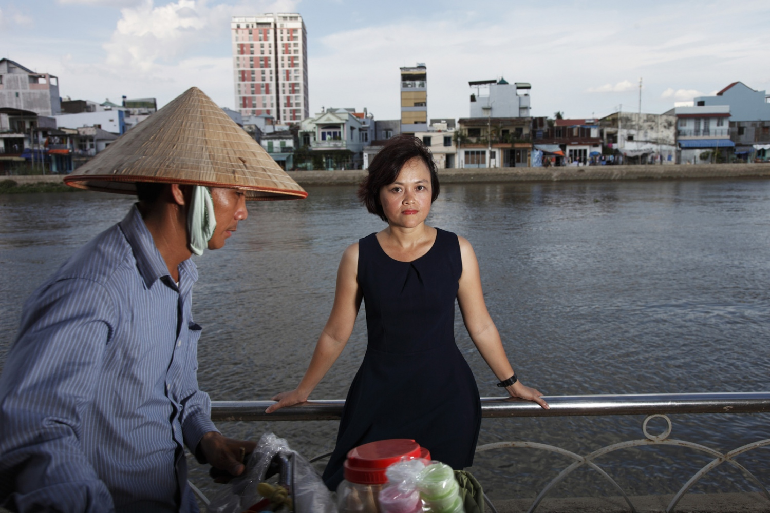 Hong Hoang stands in Ho Chi Minh City. Hong is an environmental activist responsible for coordinating 350.org activities in Southeast Asia ñ Vietnam, Laos, Cambodia, Singapore, Myanmar, and Thailand.  Ho Chi Minh - Vietnam