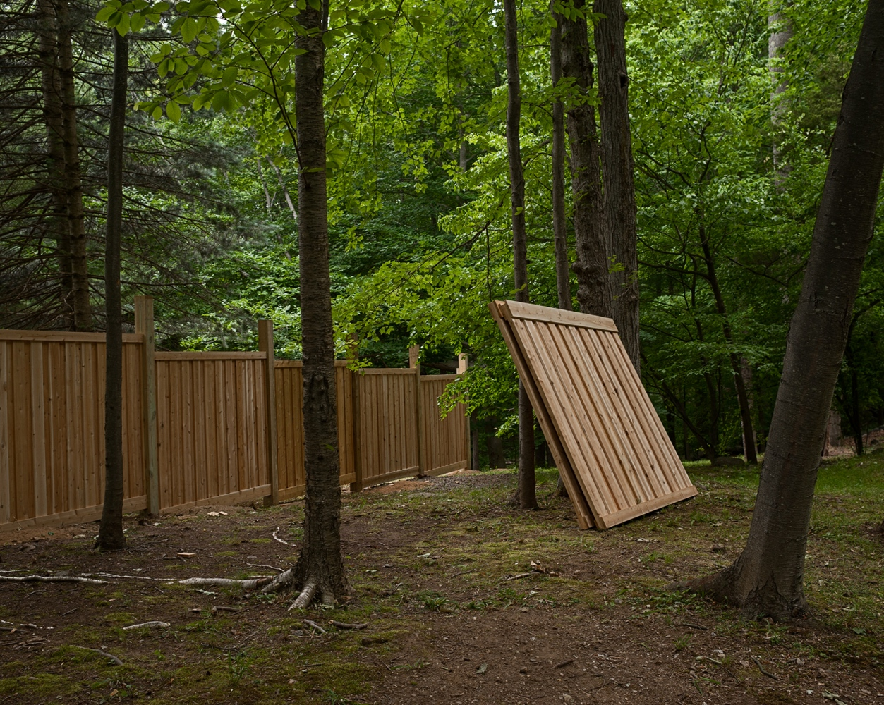 Another deer fence under construction.