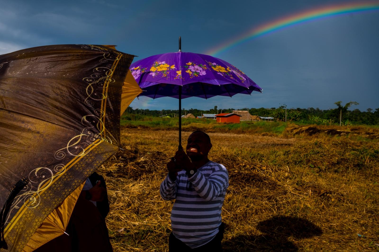 Rainbow. Puerto Esperanza, Peru.