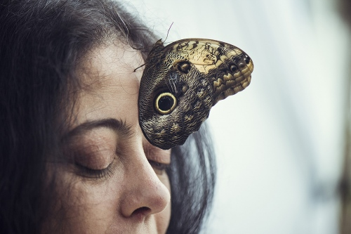 Donatella, butterflies breeder, close to Rome