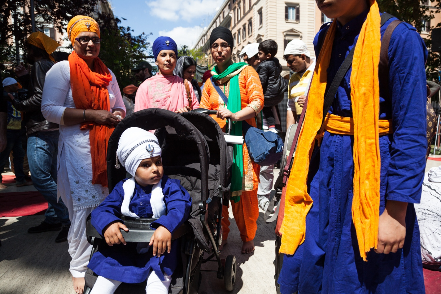 Apr. 23, 2017 - The Sikh community of Rome celebrates Vaisakhi, the festivity that marks the Sikh new year, in Piazza Vittorio, the most multicultural area of Rome.