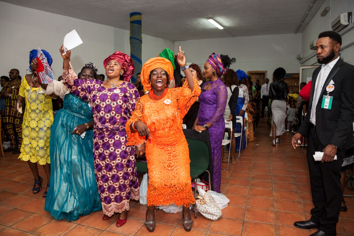 Oct. 30, 2016 - Harvest Day celebrations at the Nigerian Apostolic Church, God's Mercy Family, in Torre Angela, a working class neighborhood in the far eastern suburbs of Rome.