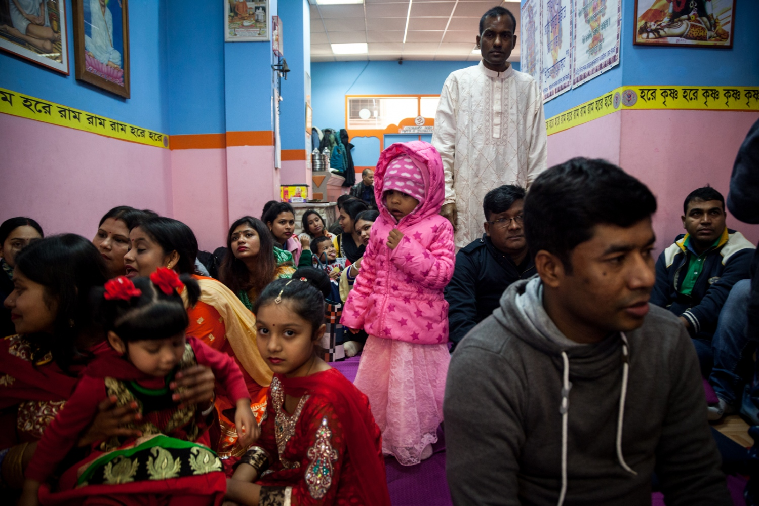 Feb. 1, 2017 - Celebration of Saraswati Puja, the goddess of wisdom, education and knowledge, in a hindu temple in Torpignattara, a working class neighborhood in the southeastern suburbs of Rome. In the last 15 years this area has become home for a big bangladeshi, indian and chinese community.