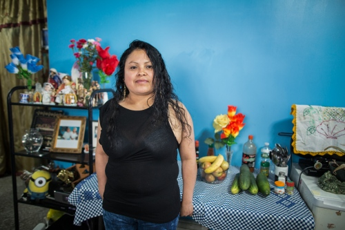 Alicia Cruz,  is from Acatlán de Osorio, Puebla, México. She Works as a street vendor in a flea market in Sunset Park, Brooklyn.