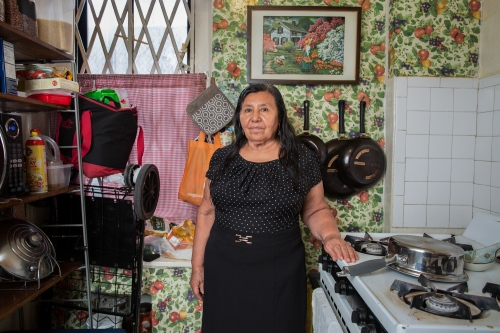 Josefina Torres , is from La Unión Tecomatlán, Puebla. She is a professional baker of traditional Mexican breads. Josefina emigrated to the United States in 1974 and since then she has been living  in the Bronx. Currently, she has 13 grandchildren.