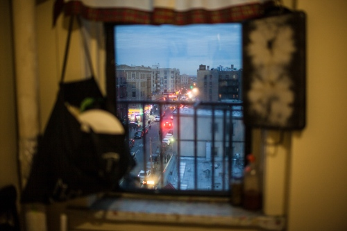 View of the Bronx from the apartment of Zenaida Cantu, Bronx, New York.