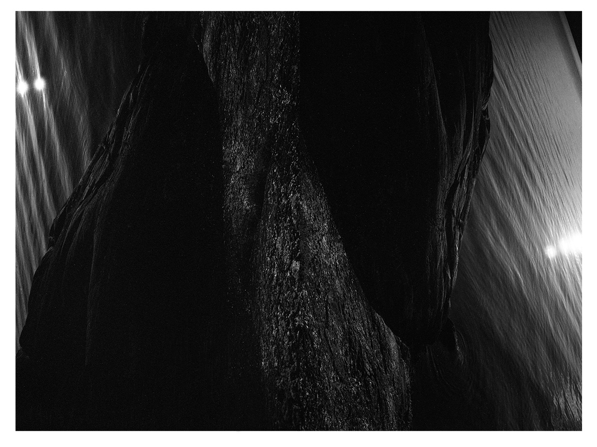 Luna Cascade 2016, 107 x 80cm, diptych, film photography, digital composition and archival ink print