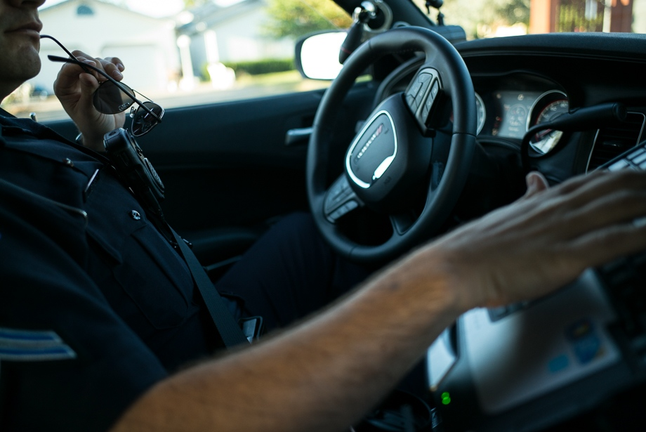 Driving around the streets of Perryville, Pete is working hard to keep the community safe.