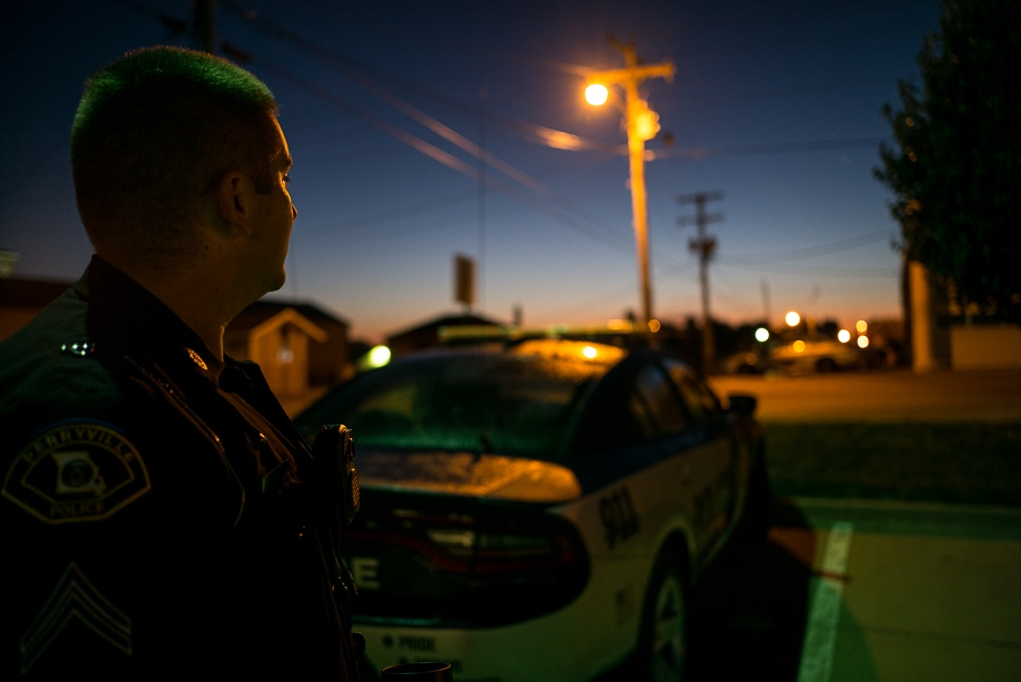 Before heading to work, Pete has a moment of silence. His morning shift starts at 6 a.m., and goes for 12 hours.